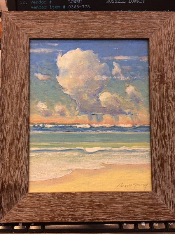 Russell Lowrey original seascape 11x14 framed dimensions