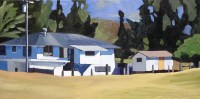 Ranch House, painting by Brenda Cablayan 10 x 20