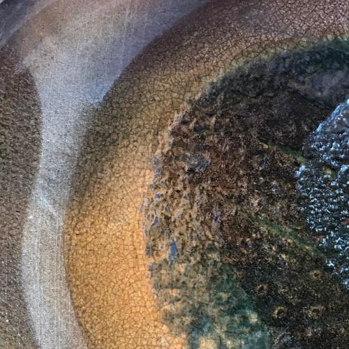 Jeff Chang Raku Wall Platter 15.25 Diameter