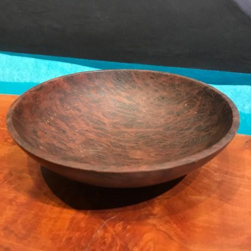 """Gordon Tang Brown Mallee Burl Bowl 1.75""""H x 6.25""""D"""