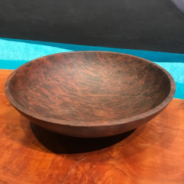 "Gordon Tang Brown Mallee Burl Bowl 1.75""H x 6.25""D"