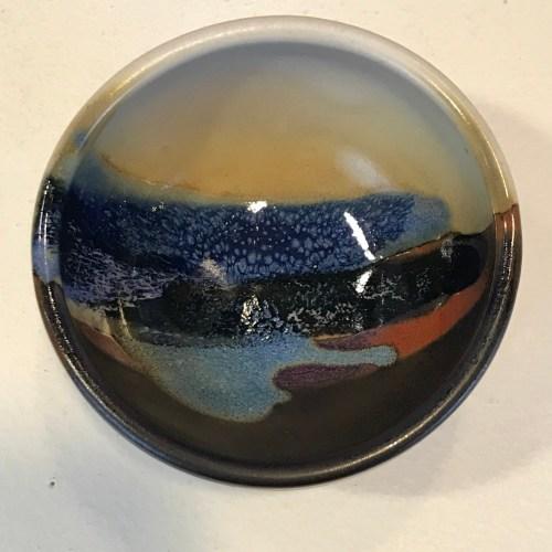 "Jeff Chang Earth Tone Stoneware Bowl 2""Hx3.25""D (representative)"