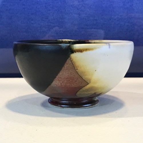 "Jeff Chang Earth Tone Stoneware Bowl 2""Hx4""D (representative)"