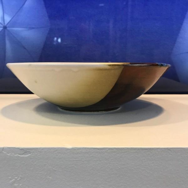 "Jeff Chang Earth Tone Stoneware Bowl 3""Hx10.25""D (representative)"