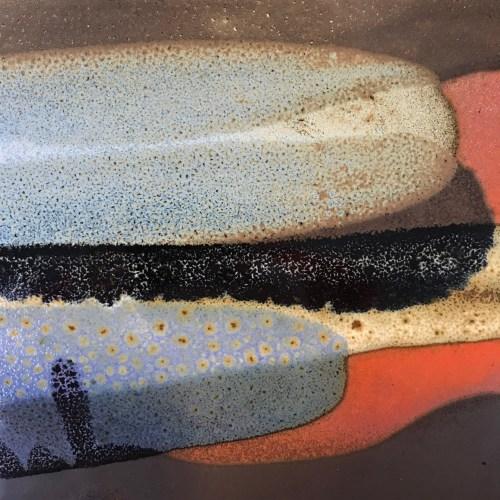"Jeff Chang Earth Tones Stoneware Plate 12""x12"" (representative)"
