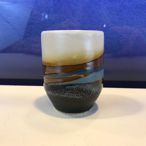 "Jeff Chang Earth Tones Stoneware Teacup 3.5""Hx2.5""D (representative)"