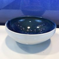 "Jeff Chang Teal Stoneware Bowl 3""Hx7""D (representative)"