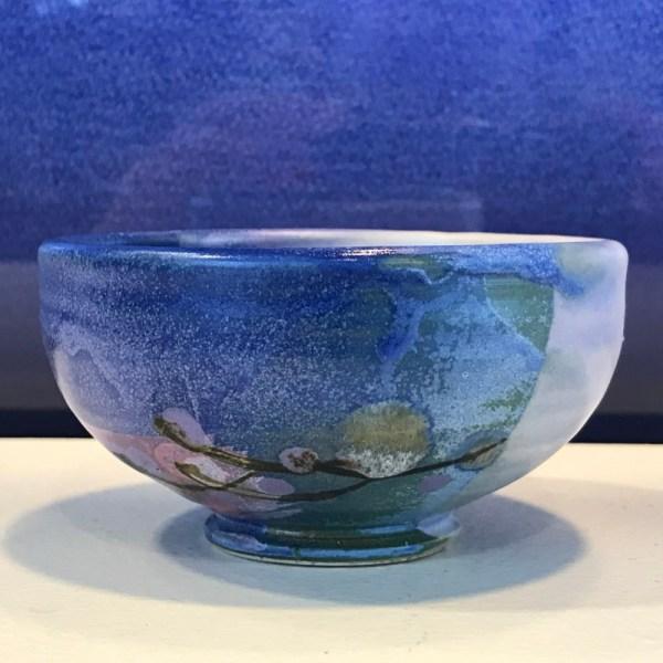 Jeff Chang Turquoise Stoneware Bowl 2''Hx4''D (representative)