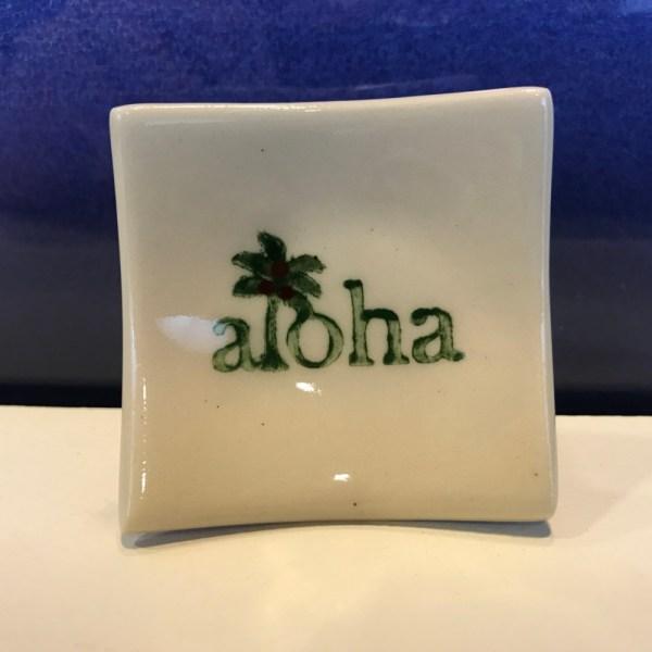 """Lorna Newlin Aloha Dish 2.5""""x2.5"""" (representative)"""