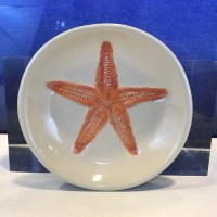 "Lorna Newlin Ceramic Pink Starfish Bowl 5"" Diameter"