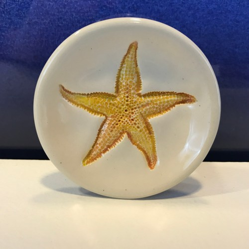 "Lorna Newlin Orange Starfish Dish 3"" Diameter (representative)"