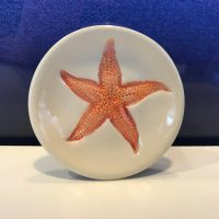 "Lorna Newlin Red Starfish Dish 3"" Diameter (representative)"