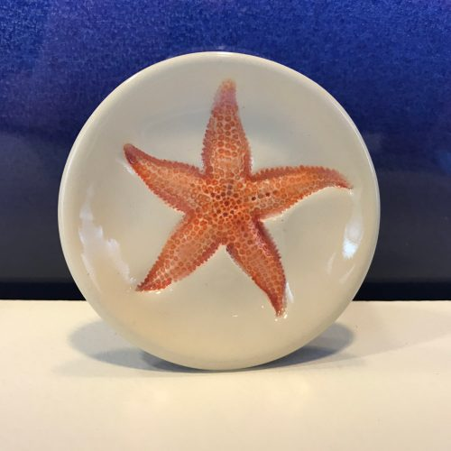 "Lorna Newlin Red Starfish Dish 3"" Diameter (representative)"
