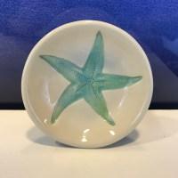 "Lorna Newlin Turquoise Starfish Dish 4"" Diameter (representative)"