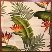 'Lani Bird of Paradise' Maui Potpourri Retro Bark Cloth (representative)