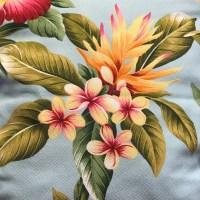 'Olelo Aqua' Maui Potpourri Retro Bark Cloth (representative)