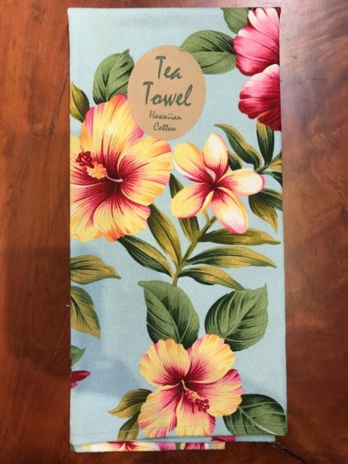 "Maui Potpourri Retro Bark Cloth Tea Towel 28""x17"" (representative) #F"