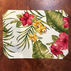 "Maui Potpourri Reversible Bark Cloth Placemat 16.5""x12.25"" (representative) #B"
