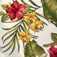'Pink Hibiscus' Maui Potpourri Retro Bark Cloth (representative)