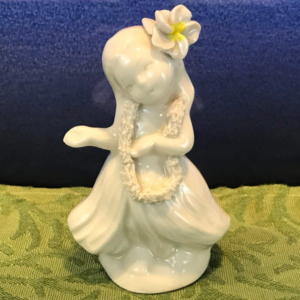 "Peter Okimoto Porcelain Hula Girl 4""Hx2.5""W (representative)"