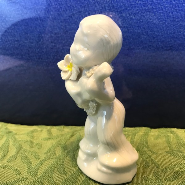 """Peter Okimoto Porcelain Ukulele Boy 4""""Hx2.5""""W (representative)"""