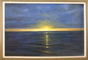 "Burton Uhr 'Sunset' Oil Painting 8""x 12"""