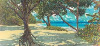'Laie Beach looking left' by Russell Lowrey, Giclee Print, custom sizes