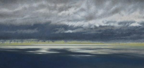 Gregory Pai 'Twilight at Kealakekua'; Giclee on Canvas, 7.75x16.75 image, framed 14.25x23.25 7.75x16.75 image;14.25x23.25