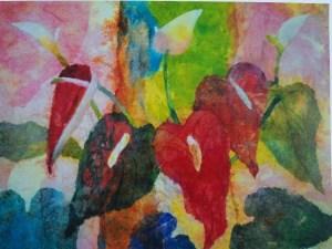 Hiroko Shoultz 'Anthurium' Print