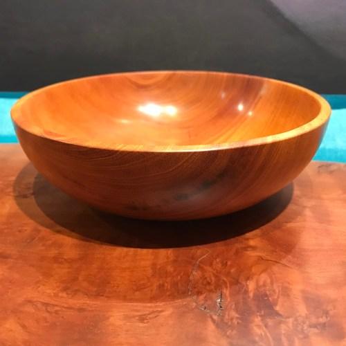 "Cuban Mahogany Bowl by Tom Young 2.25""H x 7""D"