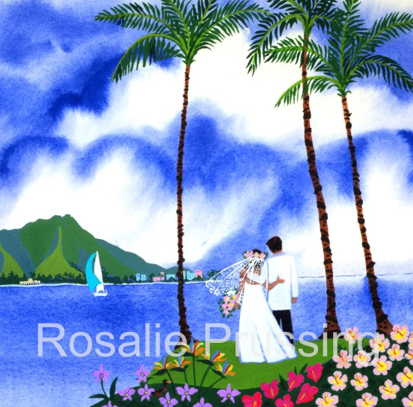 Love With Aloha Rosalie Prussing Giclée Print, custom sizes