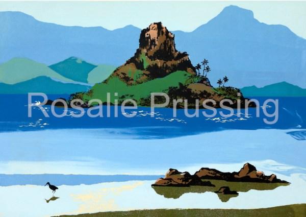 Mokolii Kualoa Rosalie Prussing Giclée Print, custom sizes