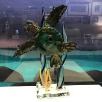 """'Glass Turtle' by Chris Upp 10.25""""H x 7.5""""W $625"""