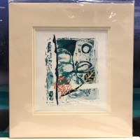 "'Beside Still Waters' Original Monoprint by Anne Irons 13""x 12"" matted $85"