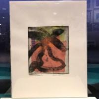 "'Dancing Palms 3' Original Monoprint by Linda Spadaro 14""x 11"" matted $80"