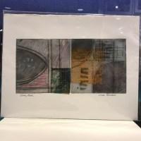 "'Gray Mood' Original Monoprint by Linda Spadaro 11""x 15"" matted $100"