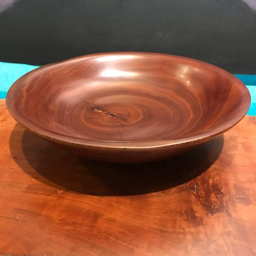 "Kamani Bowl by Carl Sherry 2.5""H x 9.5""D $225"