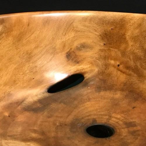 "Plumeria Bowl by Carl Sherry 4""H x 10""D $350"