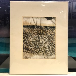 "'Protected' Original Monoprint by Anne Irons 10""x 8"" matted $60"