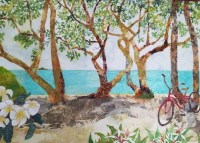 'Kalama Beach-Kailua' by Hiroko Shoultz Print, custom sizes