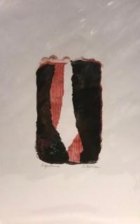 "'Aperture' Original Monoprint by Anne Irons 18""x 12"" $80"