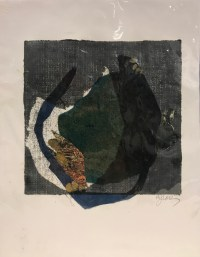 """'Bowled Over' Original Monoprint by Anne Irons 14""""x 11"""" $90"""