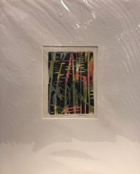 """'Colors of Hawaii' Original Monoprint by Anne Irons 20""""x 16"""" matted $110"""