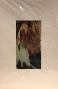 "'Covered Up' Original Monoprint by Anne Irons 19.5""x 13"" matted $150"