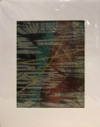"'Floating Free' Original Monoprint by Anne Irons matted 14""x 11"" $90"