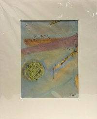 "'It's All Good' Original Monoprint by Anne Irons 22""x 18"" matted $450"