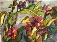 "'Orchids at Dusk' Original Watercolor by Anne Irons 22""x 30"" $980"
