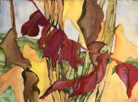"""'Red Line' Original Watercolor by Anne Irons 22""""x 30"""" $980"""