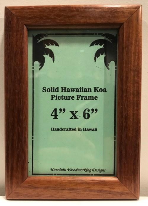 "Solid Koa Frame 4""x 6"" (representative) by Honolulu Woodworking Designs $45"