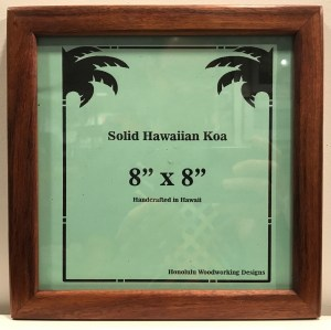 "Solid Koa Frame 8""x 8"" (representative) by Honolulu Woodworking Designs $66"